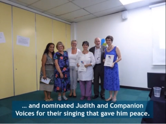 Companion Voices receiving the Award